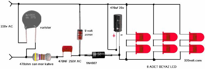 Схема самодельного светодиодного светильника