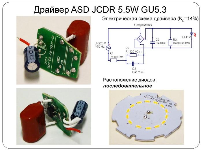 Схема светодиодной лампы с гасящим конденсатором